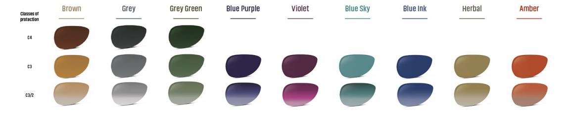 Colour choices for the Xperio Polarised Sun Lenses