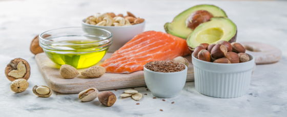 Selection of food that promotes good eye health