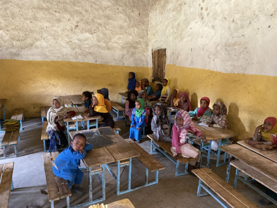 Students in a school in Ethiopia