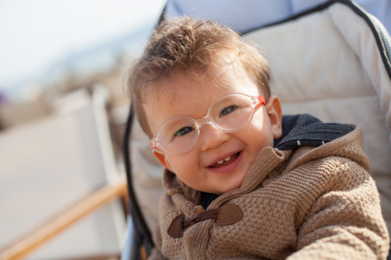 Glasses for babies need to fit well to correct their vision