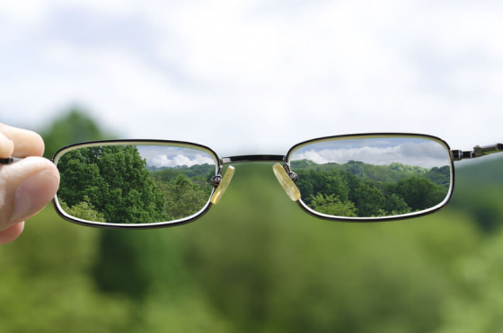 Astigmatism can be corrected with glasses