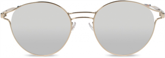 Transitions Style Mirrors silver lenses in a gold, wire, metal frame