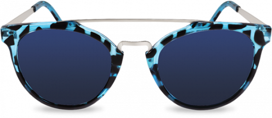 Transitions Style Colours Sapphire in blue tortoiseshell frame