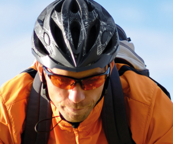 cycling can lead to objects getting in your eyes