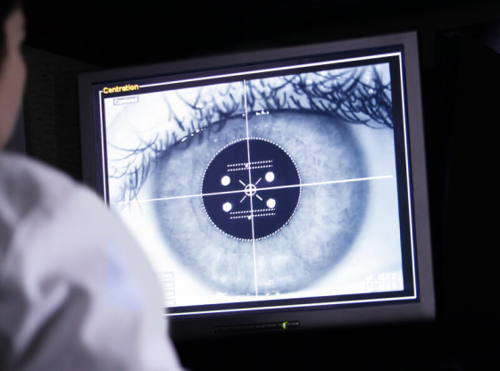 eye being scanned