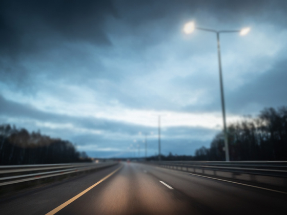 Blurred distance vision on the road