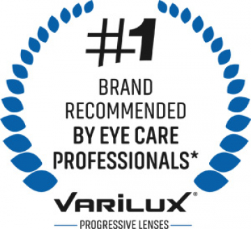 Varilux is the number one brand recommended by eye care professionals